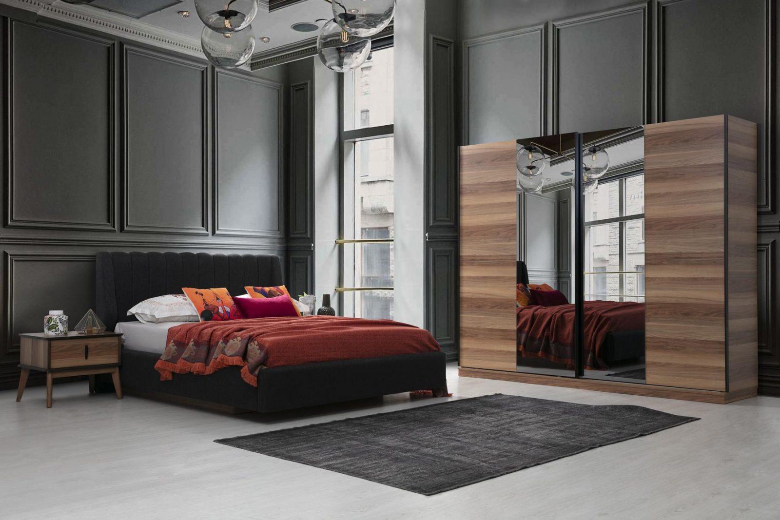 Modern Oslo Yatak Odası Takımı Parlak Ev'de