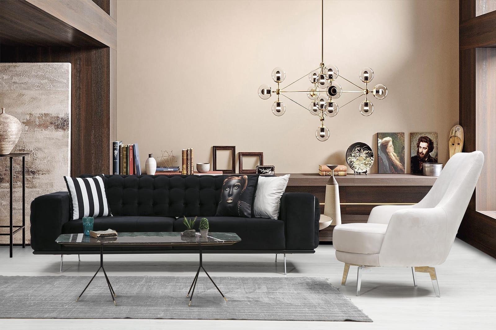 Modern Lucca Koltuk Takımı modelimiz yatak olabilme özelliği ve şık tasarımı ile evinize şıklık katmaya Parlak Ev ile geliyor.